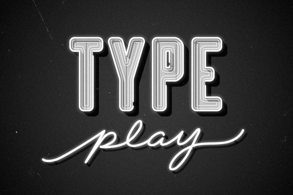 Type play-grey-landscape-vintage